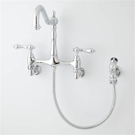 laundry room sink faucet with sprayer felicity wall mount kitchen faucet with side spray wall