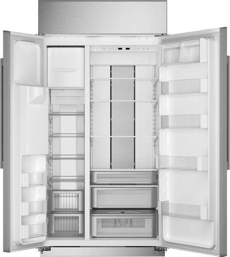 zissdnss monogram  built  counter depth side  side refrigerator  led lighting