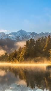 Wallpaper, Autumn, Fog, Forest, Lake, Mountains, 4k, Nature