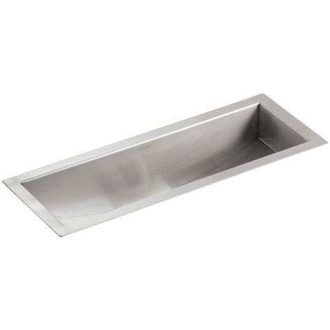 Undermount Faucet Trough Sink by Kohler Undertone Undermount Stainless Steel 22 In Single