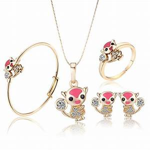 New Arrival Lovely Fox 18K Gold Plated Girls Baby Jewelry ...