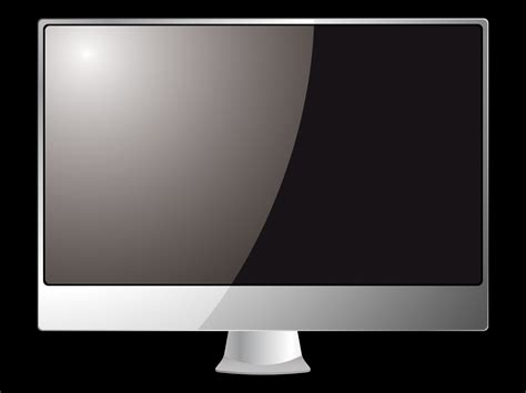 computer picture template black monitor powerpoint templates black silver