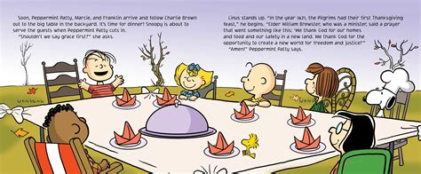 charlie brown thanksgiving table a charlie brown thanksgiving book by charles m schulz