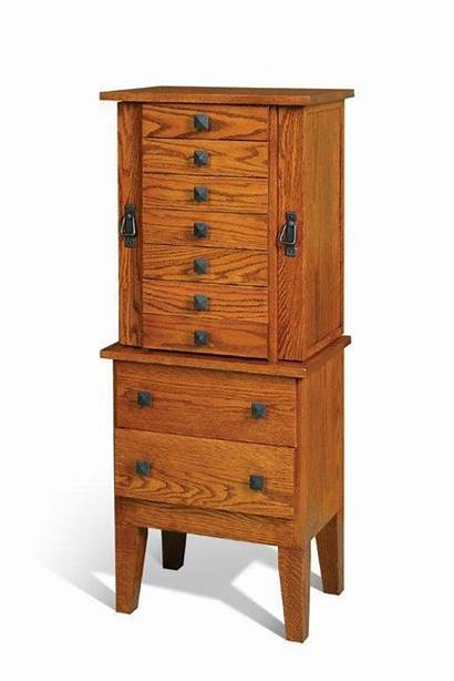 Armoire Jewelry Amish Mission Wood Cabinet Furniture