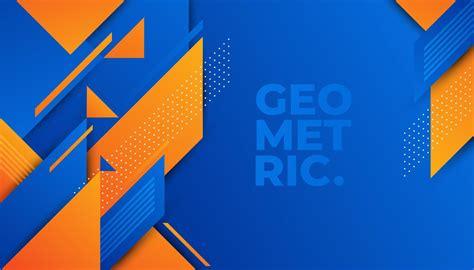 abstract blue  orange geometric pattern