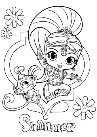 shimmer  tala coloring page  printable coloring pages