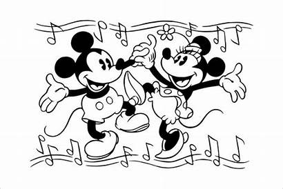 Minnie Mouse Coloring Mickey Pages Template Colouring