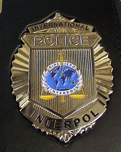 international police interpol badge  images