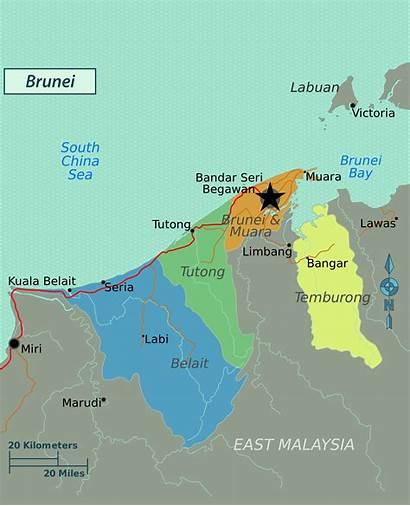 Brunei Map Political Maps Regions Asia Mapsland