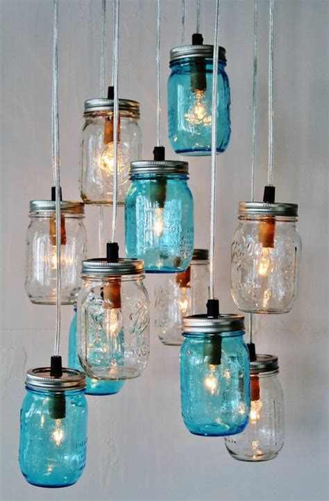 upcycled jars into beautiful chandeliers recycled