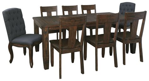 wood dining table with upholstered chairs 9 piece rectangular dining table set with upholstered