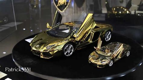 lamborghini aventador 1 8 scale in real gold us 350 000 youtube