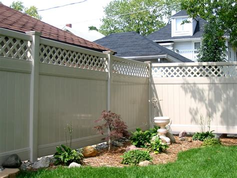 Backyard Fence Options by Privacy Fence Vinyl Fence For Securing A Yard