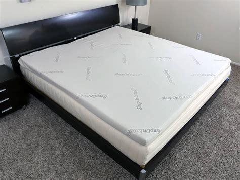on me mattress sleep on mattress topper review sleepopolis