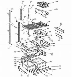 Shelves Diagram  U0026 Parts List For Model Ptc22sbmalbs Ge
