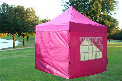 pink ez pop  canopy party tent instant gazebo  waterproof top   removable sides