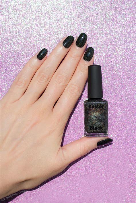 perfect black holographic nail polish