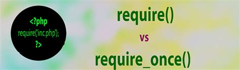 Difference Between require_once & require in PHP