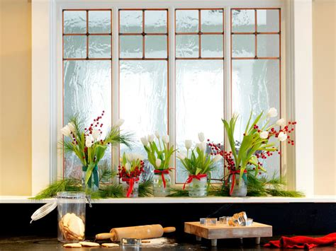 ideas for decorating window sills at christmas for church how to turn food jars into vases how tos diy