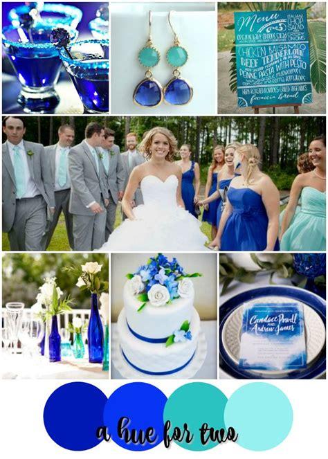Cobalt And Aqua Shades Of Blue Wedding Color Scheme