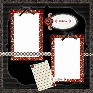 Free Printable Scrapbook Layouts | Black, Red and White ...