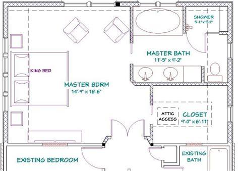 master bedroom suite plans master bathroom floor plans addition to 1 1 2 home