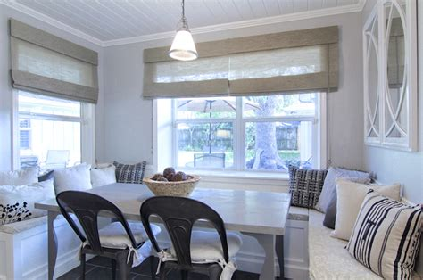 built in banquette cottage dining room cote de texas