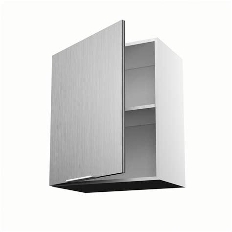 meuble de cuisine haut d 233 cor aluminium 1 porte stil h 70 x l 60 x p 35 cm leroy merlin