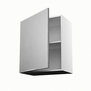 Meuble 70 Cm De Large : meuble de cuisine haut d cor aluminium 1 porte stil x x cm leroy merlin ~ Teatrodelosmanantiales.com Idées de Décoration