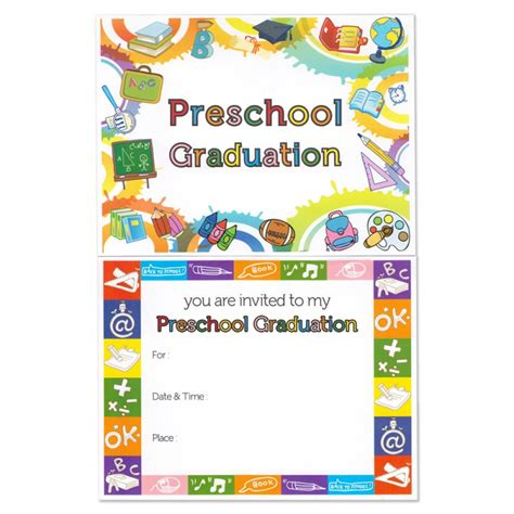 preschool graduation announcement gradshop 270 | preschool graduation 1000 6