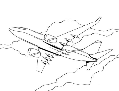 Coloring Airplane by Free Printable Airplane Coloring Pages For