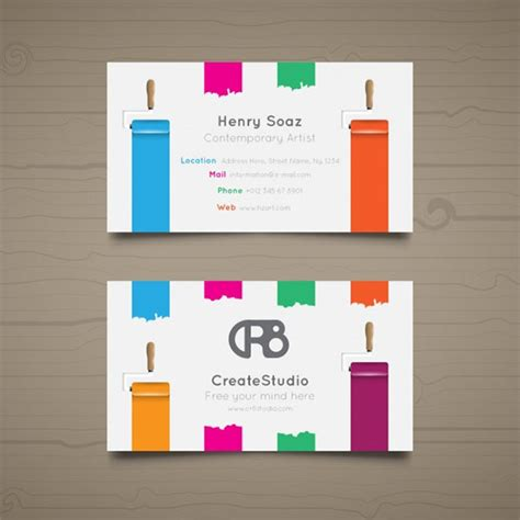 49+ Artist Business Card Templates Free PSD Vector PNG