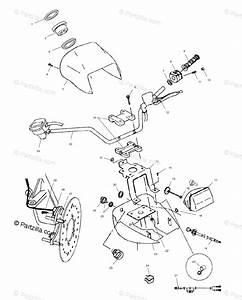 Polaris Atv 2002 Oem Parts Diagram For Handlebar And Headlight Pod