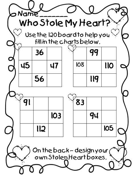 First Grade Valentine Math Worksheets Homeshealthinfo