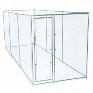lucky dog 6 ft h x 5 ft w x 10 ft l european style 2 With chain link dog kennel panels home depot
