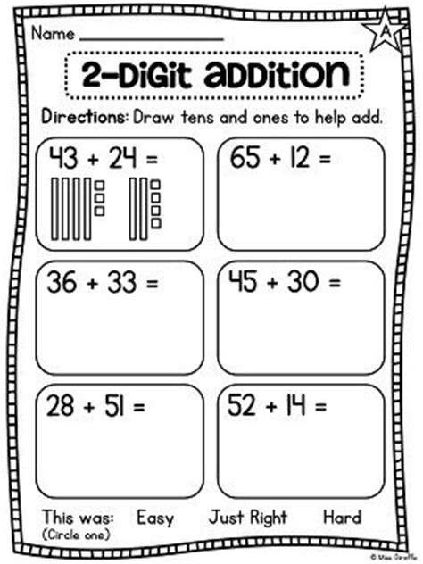 base ten blocks addition worksheets format second grade