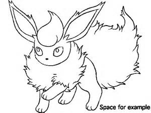 Flareon Coloring Page 2 By Bellatrixie White Flareon Coloring Pages