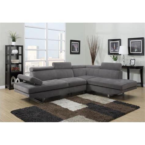 canap 233 d angle design tissu rubic gris achat vente canap 233 sofa divan tissu bois cdiscount