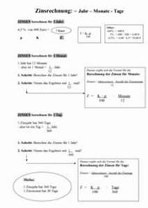 Zinsen Berechnen Tage Formel : 4teachers lehrproben unterrichtsentw rfe und unterrichtsmaterial f r lehrer und referendare ~ Themetempest.com Abrechnung