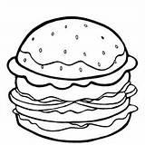 Coloring Pages Burger Cheeseburger Printable Getdrawings Getcolorings sketch template