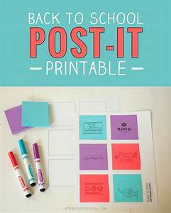 free printable print fun messages for back to school on With how to print on post its