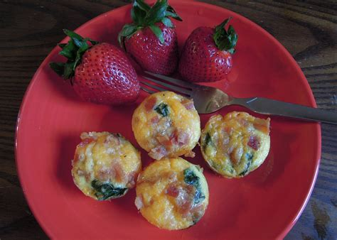 mini crustless bacon cheddar spinach quiche christine