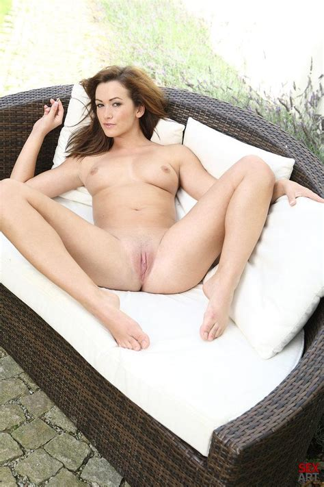 naked tess is relaxing on the backyard 12 pics