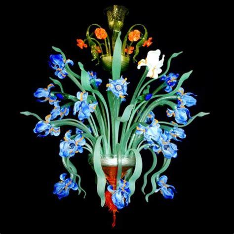 lustre de murano occasion quot iris quot murano glas kronleuchter murano glass chandeliers