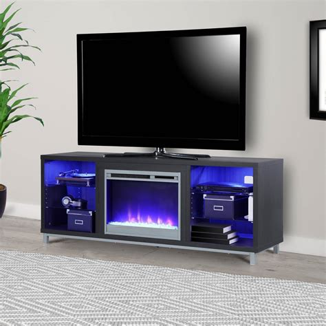 electric fireplace tv stand 70 inch 70 quot electric fireplace lighted tv stand entertainment 9644