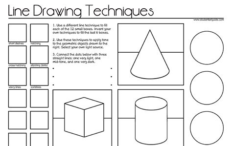 Photos Shading Techniques Worksheet,  Drawings Art Gallery