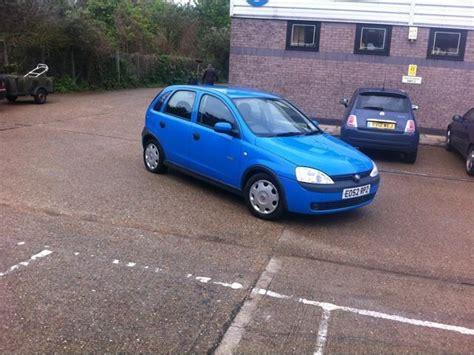 vauxhall corsa blue used vauxhall corsa 2003 petrol 1 2i 16v elegance 5dr