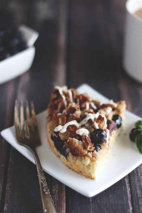 Keto Blueberry Pecan Coffee Cake | Low Carb Coffee Cake Recipe