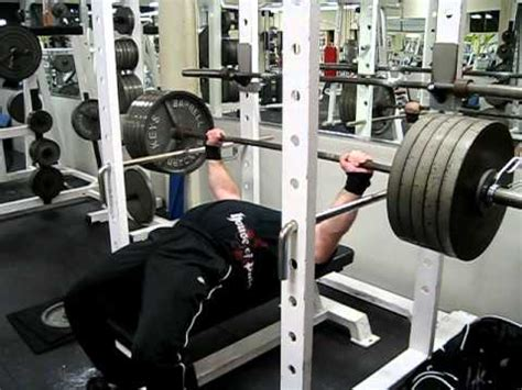 Bench Press Lockout Video High Pin Youtube