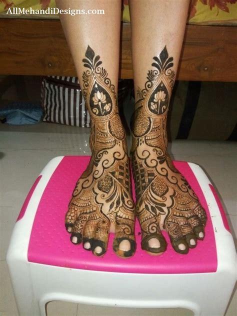 easy foot mehndi designs simple feet henna patterns